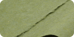 A sheet of green hemp paper