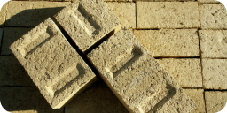 Hemp based concrete bricks